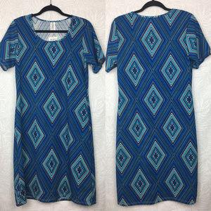 NWT HONEY & LACE Textured Printed Tshirt Dress
